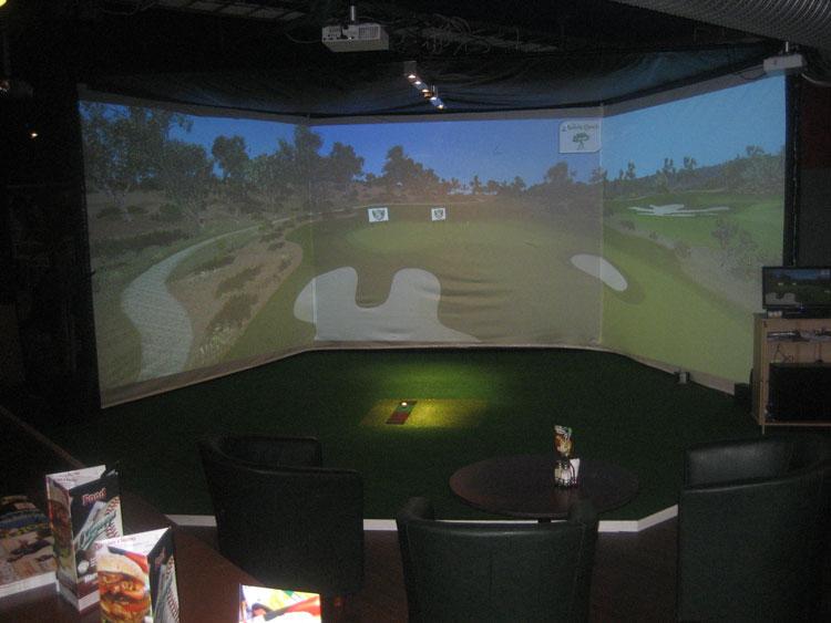 På O'Learys, Heron City spelar du golf på krogen